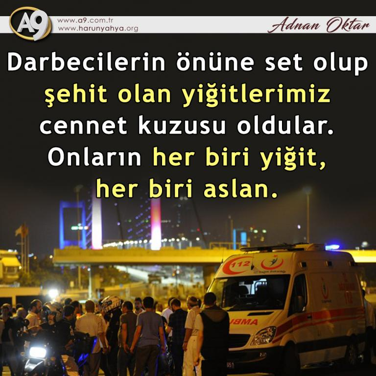 "<table style=""width: 100%;""><tr><td style=""vertical-align: middle;"">Darbecilerin önüne set olup şehit olan yiğitlerimiz cennet kuzusu oldular. Onların her biri yiğit, her biri aslan.</td><td style=""max-width: 70px;vertical-align: middle;""> <a href=""/downloadquote.php?filename=quoteofday_14687953549534.jpg""><img class=""hoversaturate"" height=""20px"" src=""/assets/images/download-iconu.png"" style=""width: 48px; height: 48px;"" title=""Resmi İndir""/></a></td></tr></table>"